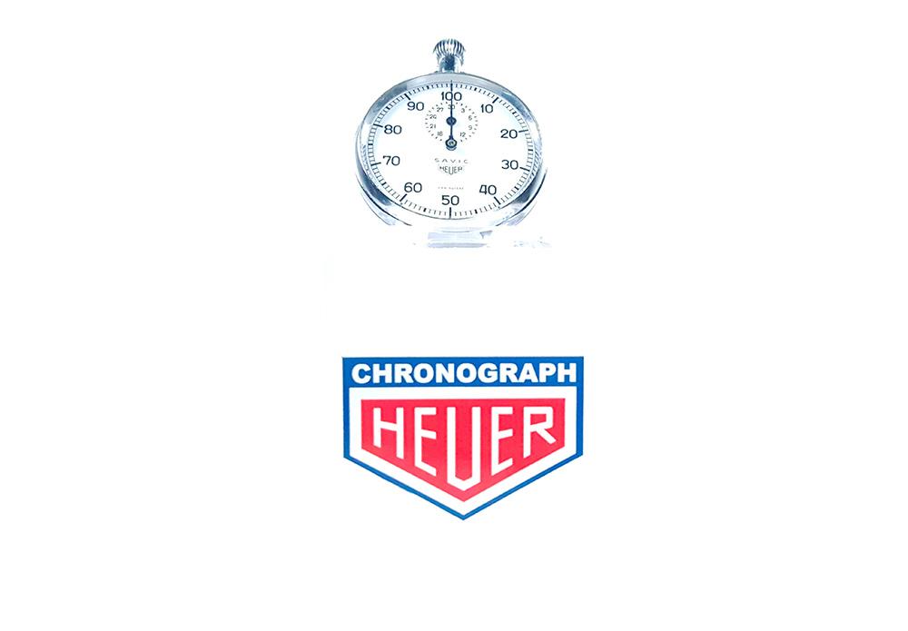 Stopwatch HEUER S.A.V.I.C ref. 913 --- wide shot--- ikonicstopwatch.com --- web version