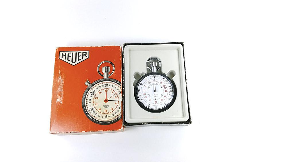 Stopwatch HEUER-LEONIDAS ref. 403.229 --- box opened --- ikonicstopwatch.com
