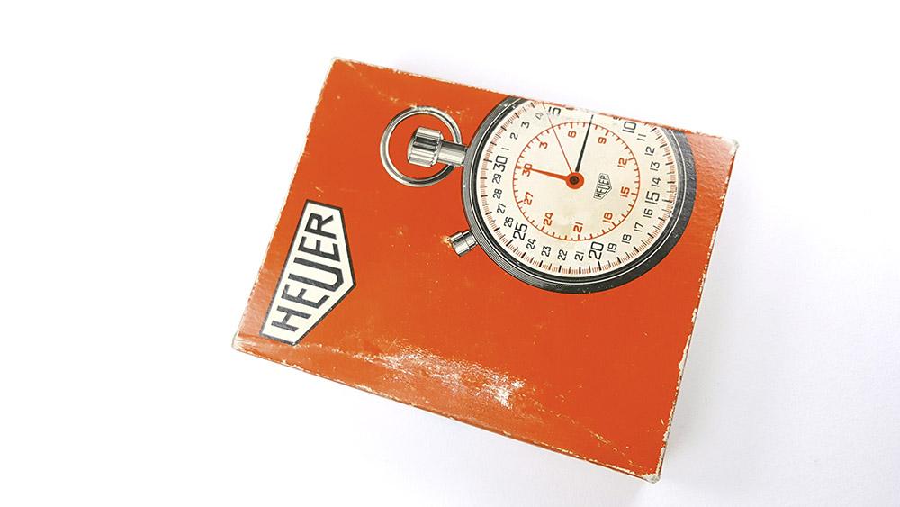 Stopwatch HEUER-LEONIDAS ref. 403.229 --- box from top --- ikonicstopwatch.com