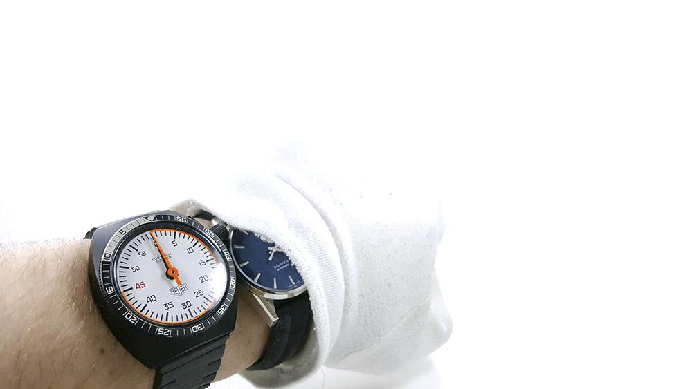 Stopwatch 203.507 (soccer) --- close shot on the wrist --- ikonicstopwatch.com
