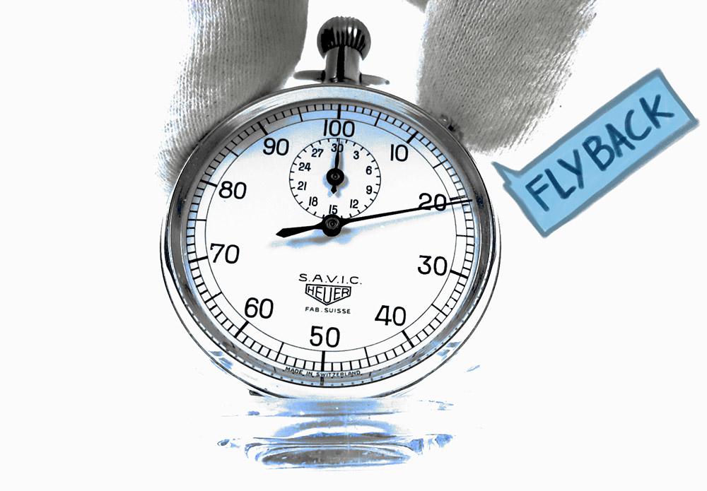 La complication FLYBACK --- plan rapproché (couverture) --- ikonicstopwatch.com