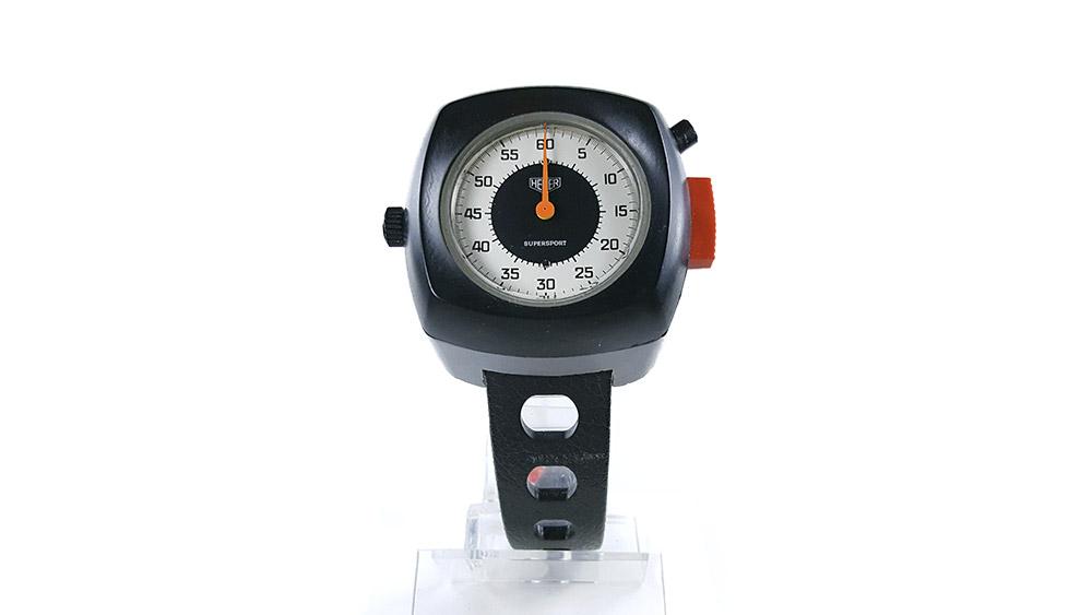 Stopwatch HEUER supersport ref. 775.901 --- close-up shot --- ikonicstopwatch.com