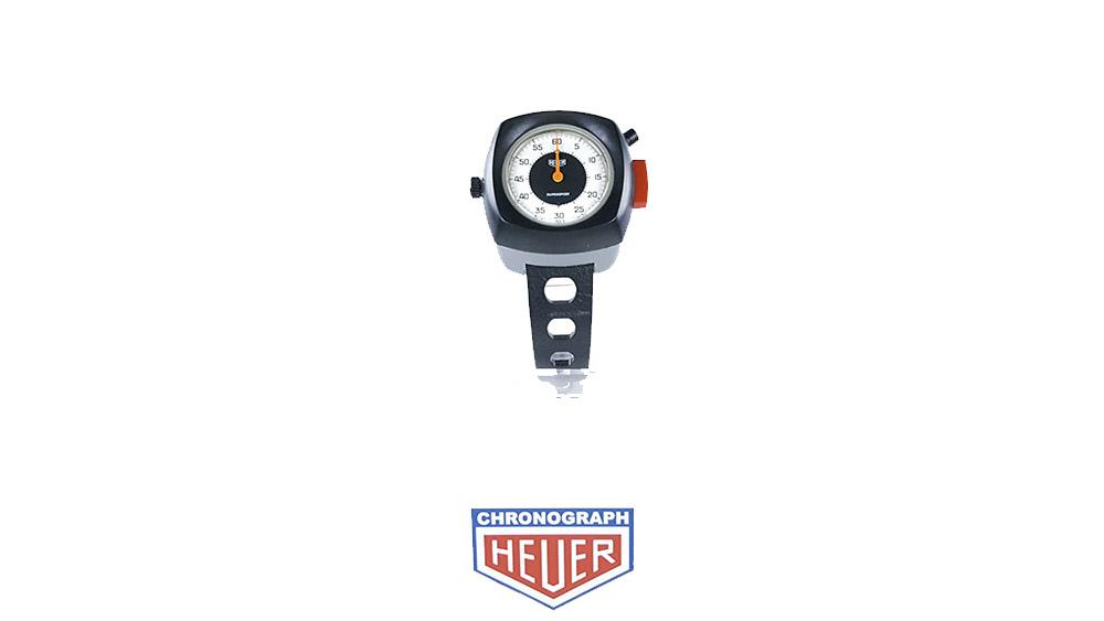 Stopwatch HEUER supersport ref. 775.901 --- wide shot --- ikonicstopwatch.com