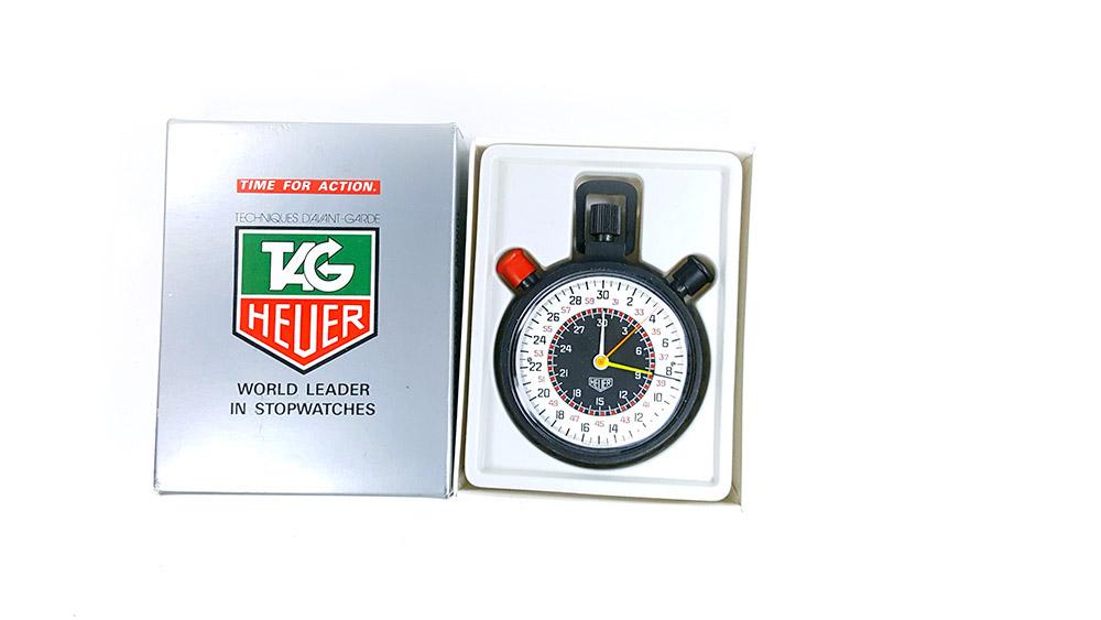 Stopwatch HEUER-Leonidas 512.902 (rattrapante) --- box opened --- ikonicstopwatch.com
