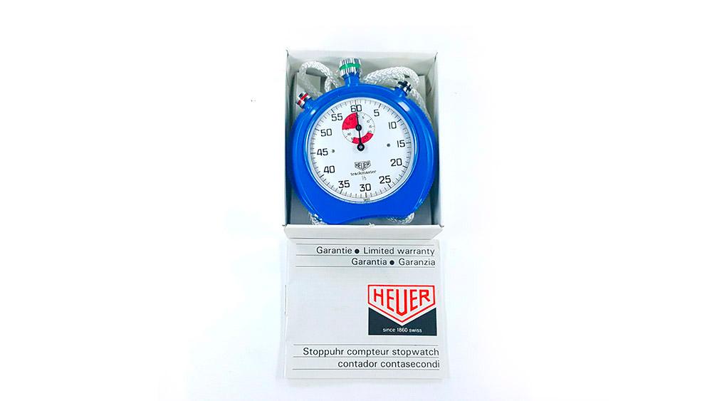 Stopwatch HEUER-Leonidas 8047 (trackmaster) --- box opened --- ikonicstopwatch.com