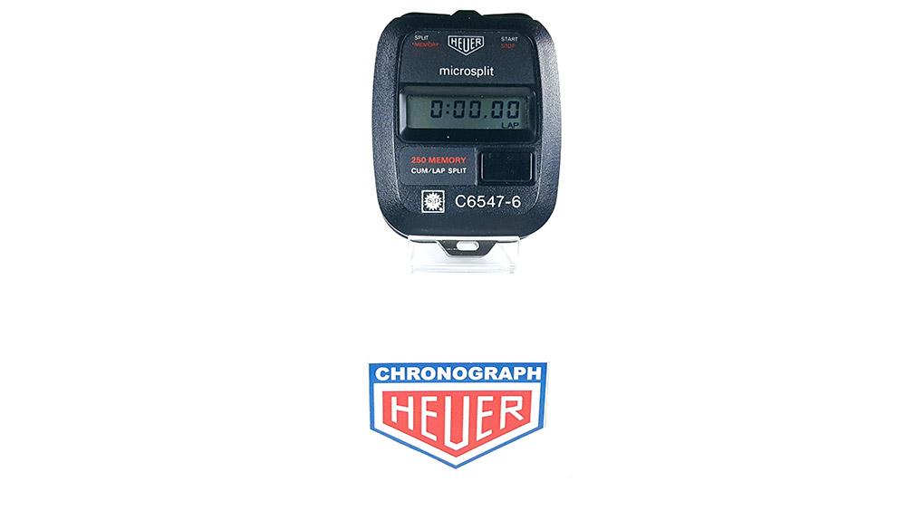 Stopwatch HEUER microsplit 250 SP --- wide shot --- ikonicstopwatch.com