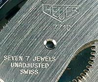 HEUER caliber --- detail on the logo --- ikonicstopwatch.com