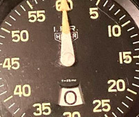 Stopwatch HEUER IFR --- credit johnswatches