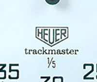 Stopwatch HEUER-Leonidas ref.8047 trackmaster small --- zoom on the dial --- ikonicstopwatch.com