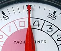 Stopwatch HEUER-Leonidas ref. 803.915 yacktimer vintage --- hands detail --- ikonicstopwatch.com