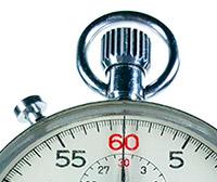 Vintage stopwatch HEUER-Leonidas ref. 9901 --- zoom on the crown --- ikonicstopwatch.com