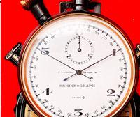 Vintage stopwatch HEUER semimikrograph --- dial --- stopwatchtime