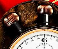 Vintage stopwatch HEUER semimikrograph --- commands --- stopwatchtime