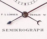 Vintage stopwatch HEUER semimikrograph --- zoom on the dial --- stopwatchtime