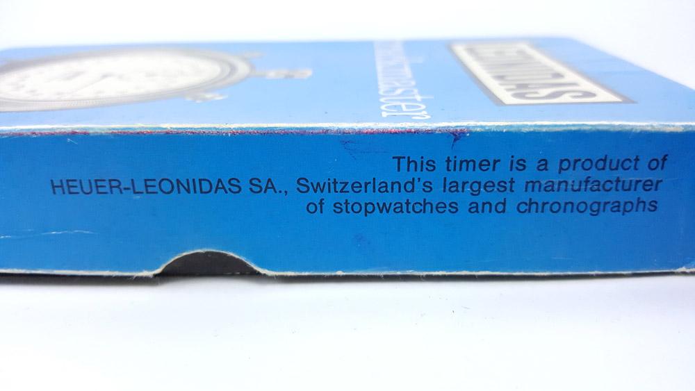 Chronomètre Leonidas trackmaster 8041 --- détail de la boîte --- ikonicstopwatch.com