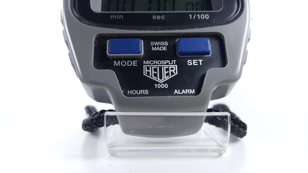 Vintage HEUER-Leonidas stopwatch microsplit ref. 1000 --- swiss made zoom --- ikonicstopwatch.com