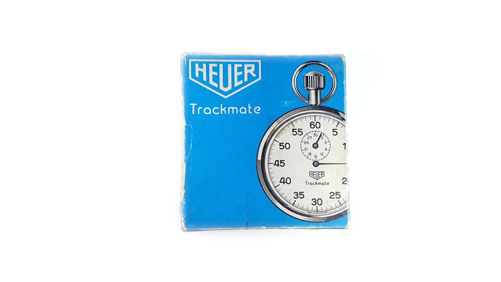 Vintage HEUER-Leonidas stopwatch ref. 593 trackmate --- box --- ikonicstopwatch.com