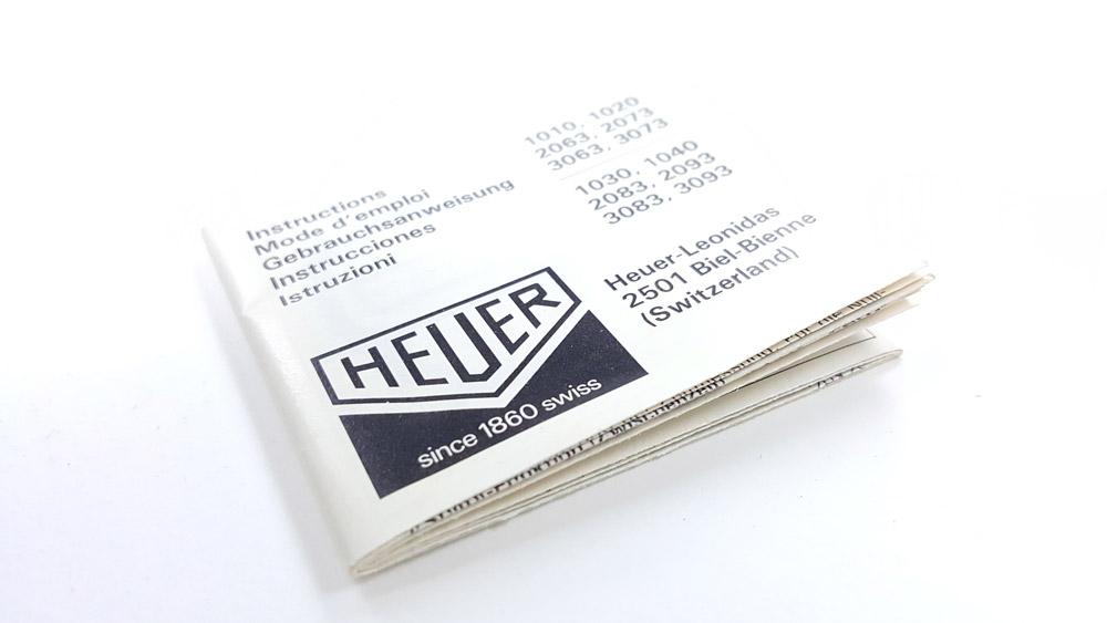 Chronomètre vintage HEUER ref. 1010 microsplit --- notice d'utilisation --- ikonicstopwatch.com