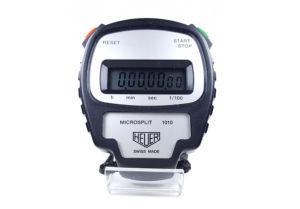 Chronomètre vintage HEUER ref. 1010 microsplit --- plan rapproché (couverture) --- ikonicstopwatch.com