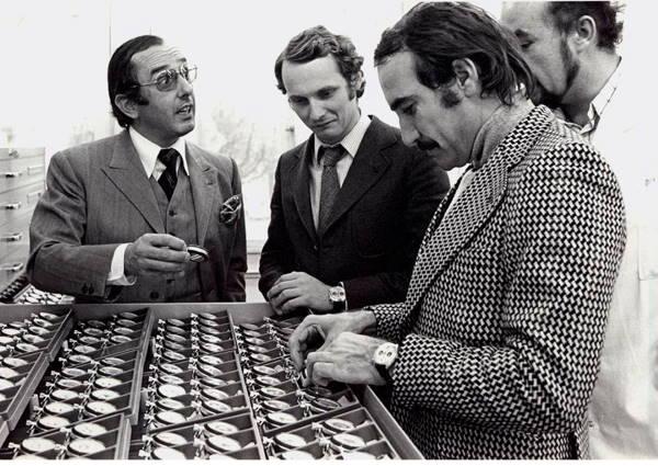 Jack Heuer, Niki Lauda and Clay Regazzoni --- ikonicstopwatch.com