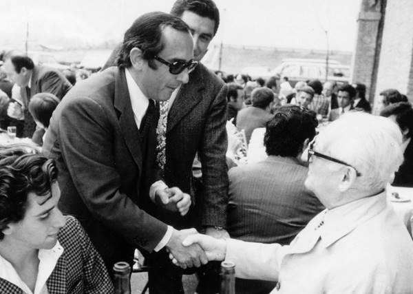 Jack Heuer with Enzo Ferrari --- ikonicstopwatch.com