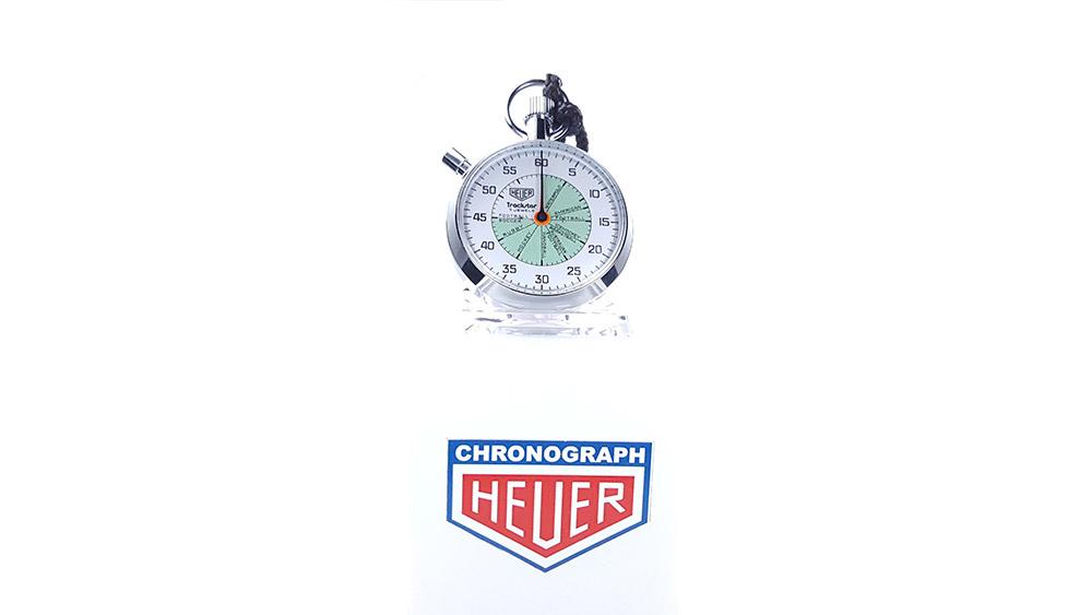 Vintage HEUER stopwatch ref. 653.302 trackstar (allsports) --- wide shot --- ikonicstopwatch.com